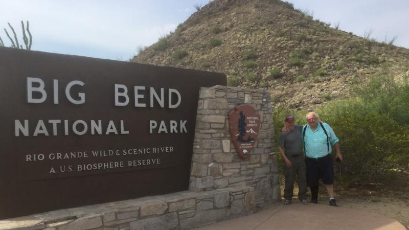 Bob and Bruce at Big Bend National Park